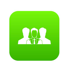 recruitment icon digital green vector image
