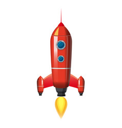 Rocket space ship isolated vector