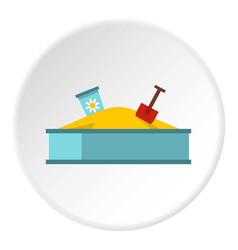 sandbox icon circle vector image