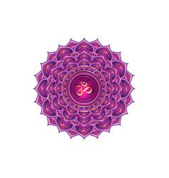 Seventh crown chakra sahasrara logo template r vector