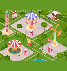 Summer amusement park for children vector