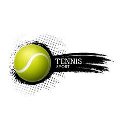 Tennis ball background sport vector