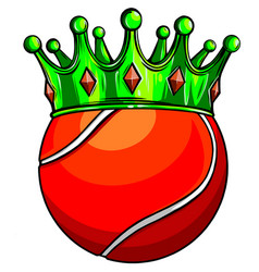 tennis ball in golden royal crown concept of vector image