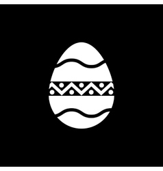 The egg icon Easter egg symbol UI Web Logo vector image