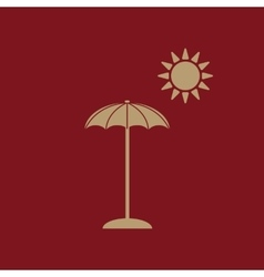The parasol icon Vacation symbol Flat vector image