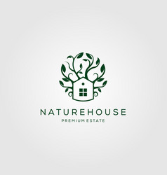 tree house nature logo design vector image