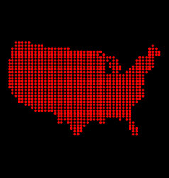 Usa outline dot map vector