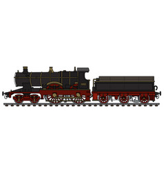 Vintage black steam locomotive vector