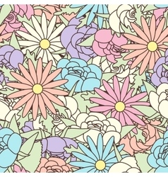 Abstract Seamless pattern with floral background vector image vector image