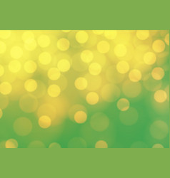 abstract yellow bokeh light on green luxury vector image vector image