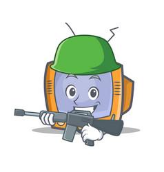 Army tv character cartoon object vector