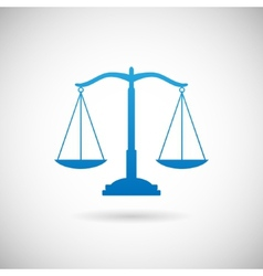 Law Symbol Justice Scales Icon Design Template on vector image vector image