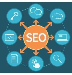 SEO marketing concept vector image