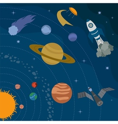 Space universe graphic design Banners layot flyer vector image