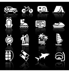 vacation travel icon vector image vector image