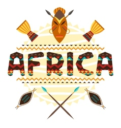 African ethnic background with geometric ornament vector image vector image