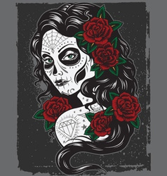 day of dead girl vector image vector image