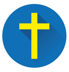 icon cross jesus vector image