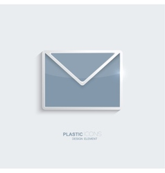 Plastic icon email symbol vector image