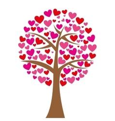 tree hearts love romantic icon vector image vector image