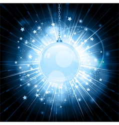 christmas bauble star burst vector image vector image