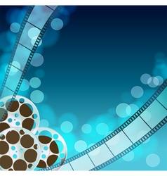 Cinema blue background vector image