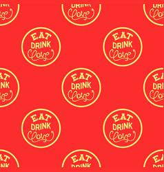 eat drink love vector image vector image