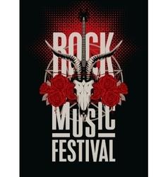 festival rock music vector image vector image