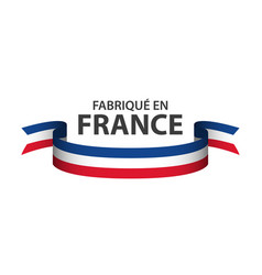 made in france colored ribbon with french tricolor vector image
