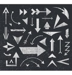 Set of various arrows icons logos vector
