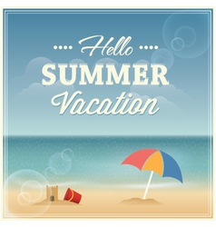 Summer vacation greeting card design vector image vector image
