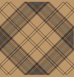 tartan brown beige seamless fabric texture vector image vector image
