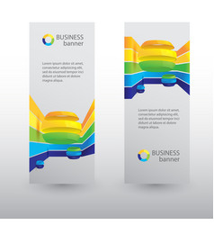 business web vertical banners vector image vector image