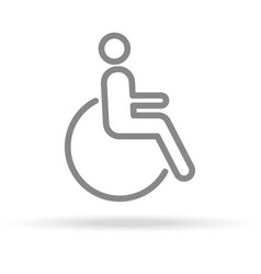 disabled icon in trendy thin line style isolated vector image
