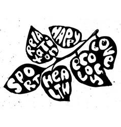 healthy life balanse concept vector image vector image