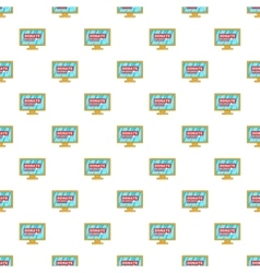 Online donation pattern cartoon style vector image vector image