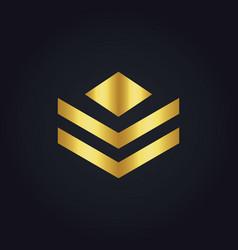 shape polygon business gold logo vector image