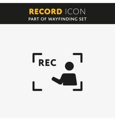 video Rec Icon vector image vector image