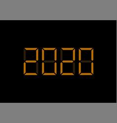 2020 digital numbers vector