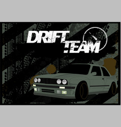 a dirty banner car background in grunge style vector image