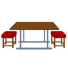 A table and chair vector