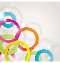 Abstract background with circles and squares vector image