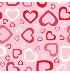 Abstract hearts seamless background vector
