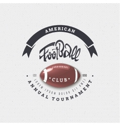 American football - badge sticker can be used to vector image