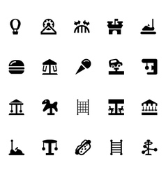 Amusement Park Icons 2 vector image