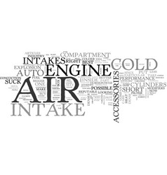 Auto accessories cold air intakes text word cloud vector