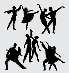 ballerina dance silhouette vector image