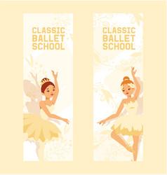 ballet dancer ballerina woman character vector image