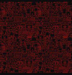 Black friday seamless pattern vector