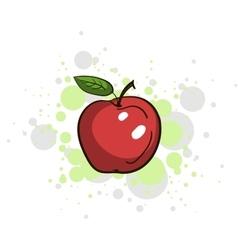 Bright Juicy Apple vector